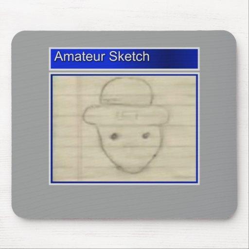Amateur Leprechaun Sketch Mouse Pad