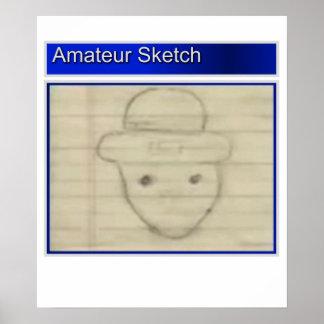 Amateur Leprechaun Sketch Posters