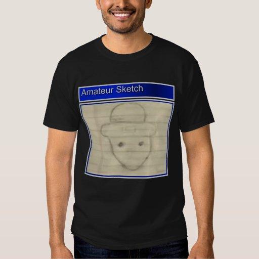 Amateur sketch of leprechaun t shirt