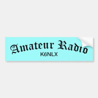 Amateur Radio and Call Sign Car Bumper Sticker