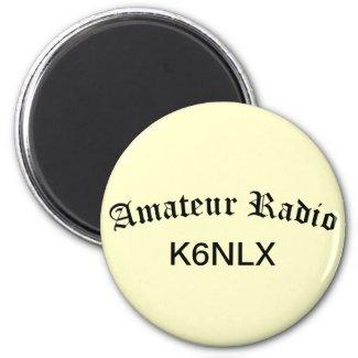 Amateur Radio and Call Sign Fridge Magnet