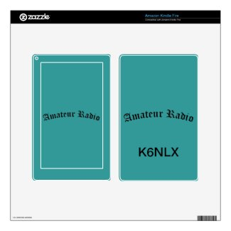 Amateur Radio and Call Sign Kindle Fire Skin