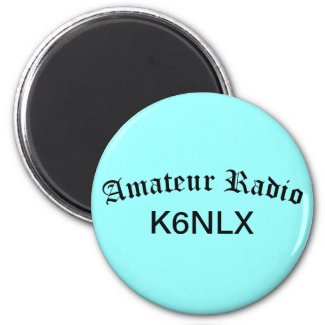 Amateur Radio and Call Sign Refrigerator Magnet