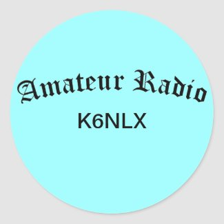Amateur Radio and Call Sign Round Stickers