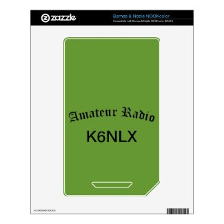 Amateur Radio and Call Sign Decals For The Nook Color