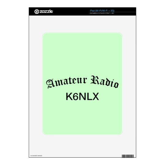 Amateur Radio and Call Sign Skin For The iPad