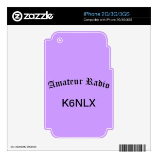Amateur Radio and Call Sign Skins For The Iphone 3