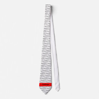 Amateur Radio and Red Call Sign Neck Tie