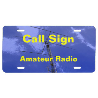 Amateur Radio Antenna and Call Sign License Plate