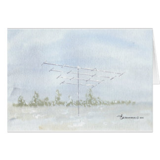Amateur Radio Antenna in Winter Cards