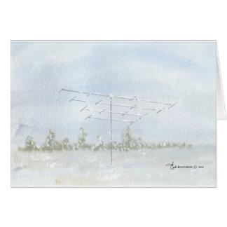 Amateur Radio Antenna in Winter Cards