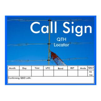 Amateur Radio Antenna QSL Postcard