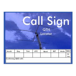 Amateur Radio Beam and Tower QSL Postcard