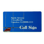 Amateur Radio Beam Antenna Call Sign Shipping Labels