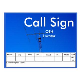 Amateur Radio Beam Antenna QSL Postcard