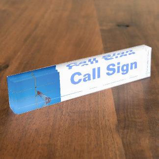 Amateur Radio Call Sign and Antenna 2 Name Plate