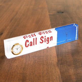 Amateur Radio Call Sign and Antenna 3 & Clock Nameplate