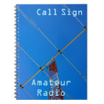 Amateur Radio Call Sign & Beam 2 Spiral Notebook