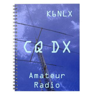 Amateur Radio Call Sign CQ DX Spiral Notebook