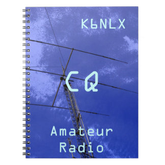 Amateur Radio Call Sign CQ Spiral Note Book