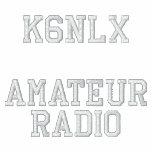 Amateur Radio Call Sign Embroidered Polo Shirt