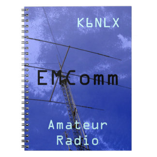 Amateur Radio Call Sign EMComm Spiral Notebook