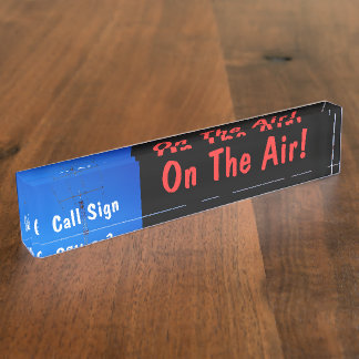 Amateur Radio Call Sign On Air Nameplate