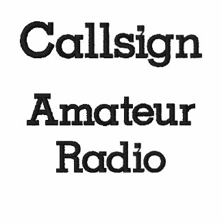 Amateur Radio Call Sign Pullover Sweatshirt
