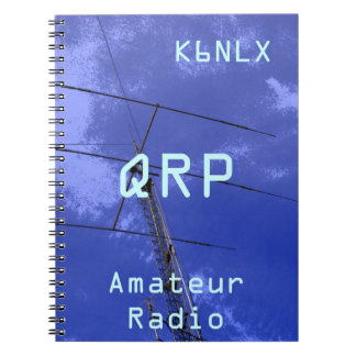 Amateur Radio Call Sign QRP Spiral Note Books