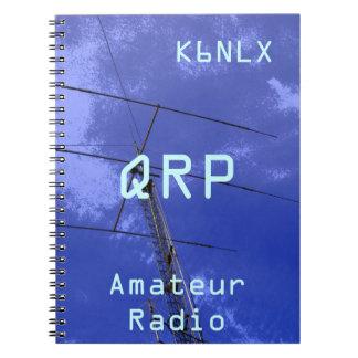 Amateur Radio Call Sign QRP Spiral Notebook