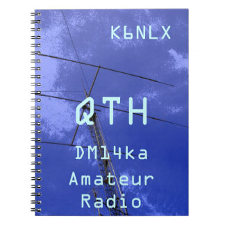 Amateur Radio Call Sign QTH and Locator Spiral Notebook