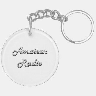 Amateur Radio Classic Retro Design Double-Sided Round Acrylic Keychain