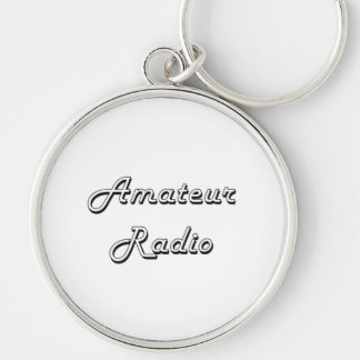 Amateur Radio Classic Retro Design Silver-Colored Round Keychain