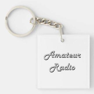 Amateur Radio Classic Retro Design Single-Sided Square Acrylic Keychain