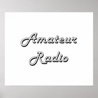 Amateur Radio Classic Retro Design Poster