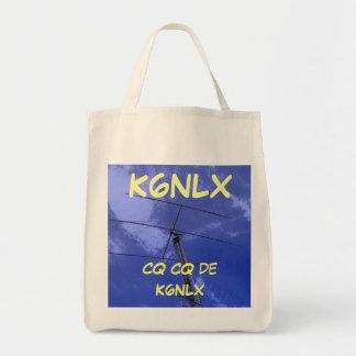 Amateur Radio CQ Callsign Tote Canvas Bags