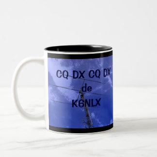 Amateur Radio CQ DX and Callsign Mug