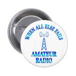 Amateur Radio Helps Pinback Button