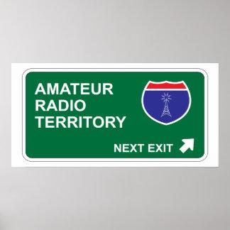 Amateur Radio Next Exit Poster