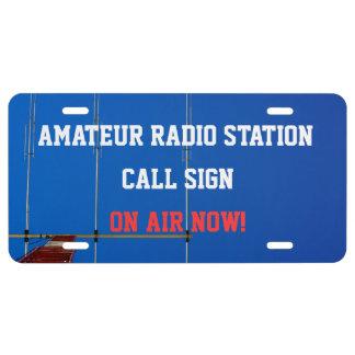 Amateur Radio On Air License Plate