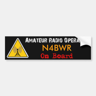 Amateur Radio Operator on Board Bumper Sticker