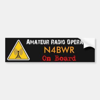 Amateur Radio Operator on Board Car Bumper Sticker