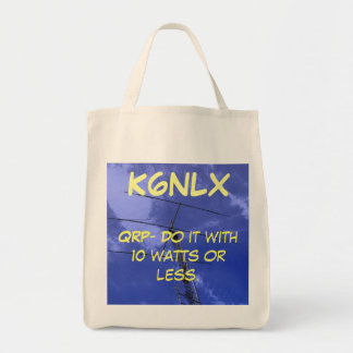 Amateur Radio QRP 10 watts Tote Grocery Tote Bag