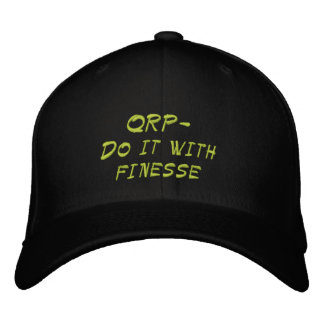 Amateur Radio QRP Finesse Hat Embroidered Baseball Caps