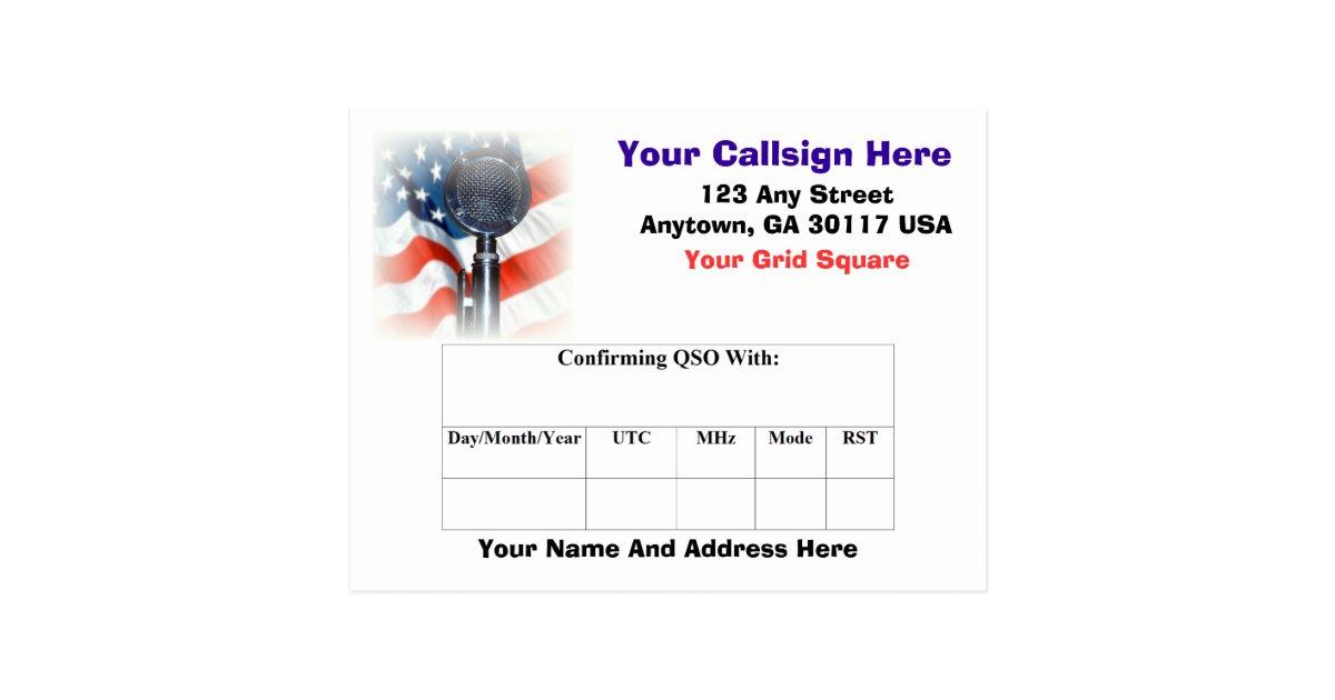 Amateur Radio Qsl Card Zazzle Com
