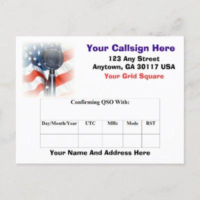 Amateur Radio QSL Card Post Card by Blake81