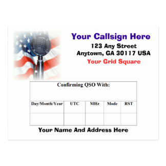 Amateur Radio QSL Card Post Card