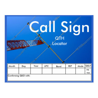 Amateur Radio QSL Postcard