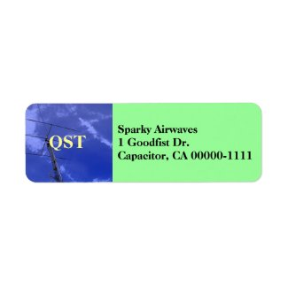 Amateur Radio QST Address Label label
