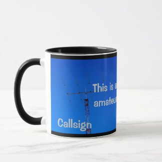 Amateur Radio QST and Callsign Mug
